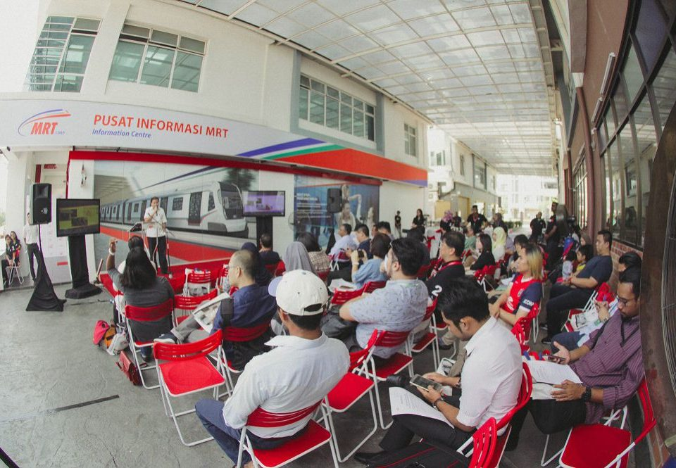 WARM RECEPTION: The media and attendees that were present during launch of the MRT Touchpoints at the MRT Information Centre, Seri Kembangan.