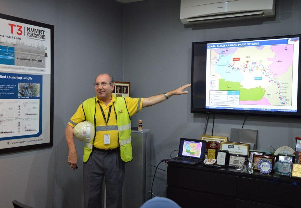 OUR PROJECT: Mass Rapid Transit Corporation Sdn Bhd (MRT Corp) Sungai Buloh-Kajang (SBK) Line Project Director Mr Marcus Karakashian providing details about the SBK Line.