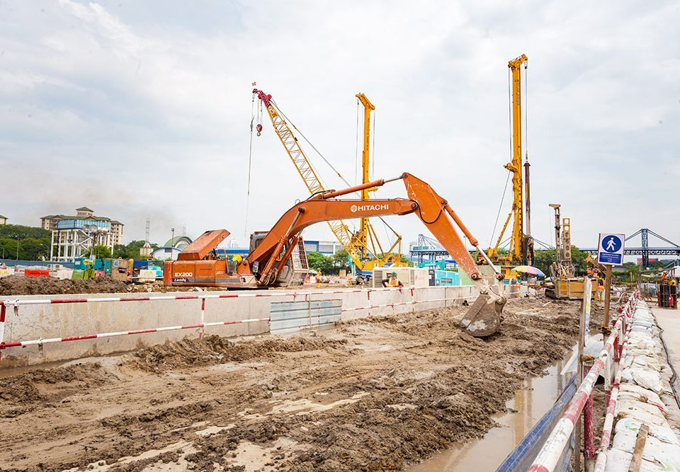 Ongoing preparation work at the future Bandar Malaysia North Station site.