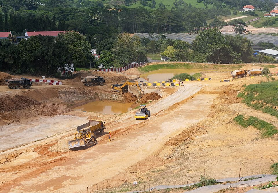Ongoing earthworks at the Serdang Depot site.