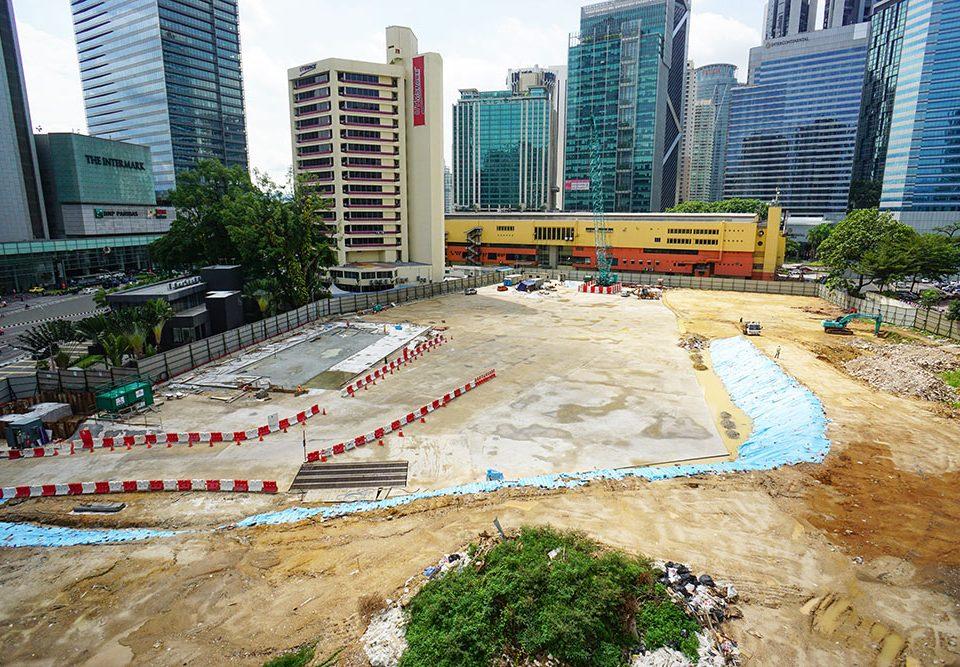 Pandangan di tapak Stesen MRT Ampang Park yang akan datang.