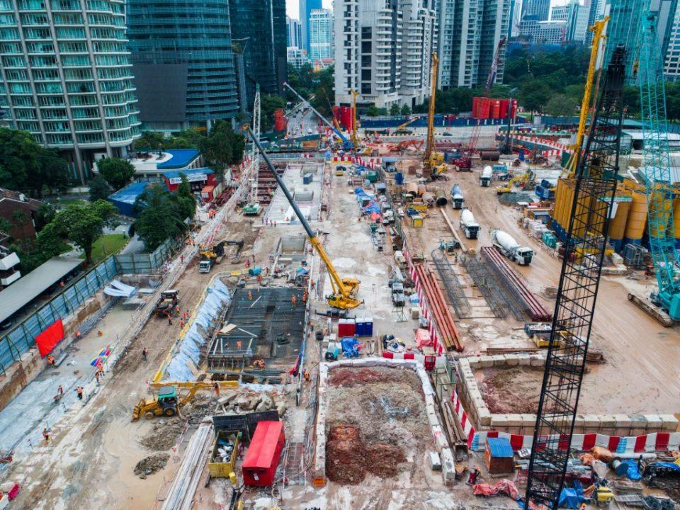 Pandangan udara tapak Stesen MRT KLCC Timur.