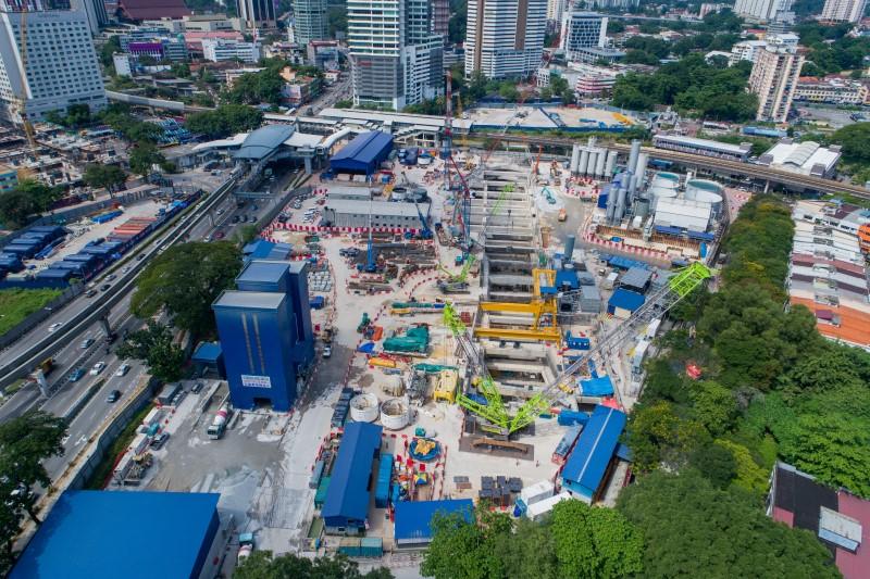 Pandangan udara tapak Stesen MRT Titiwangsa