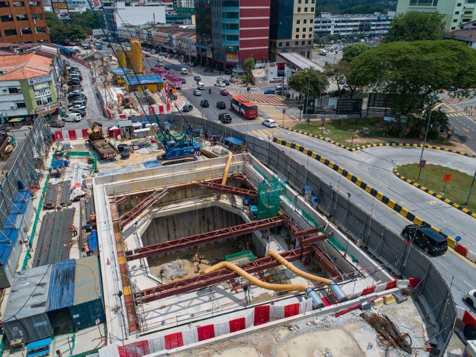 Pandangan udara tapak pembinaan Syaf Kecemasan 1.