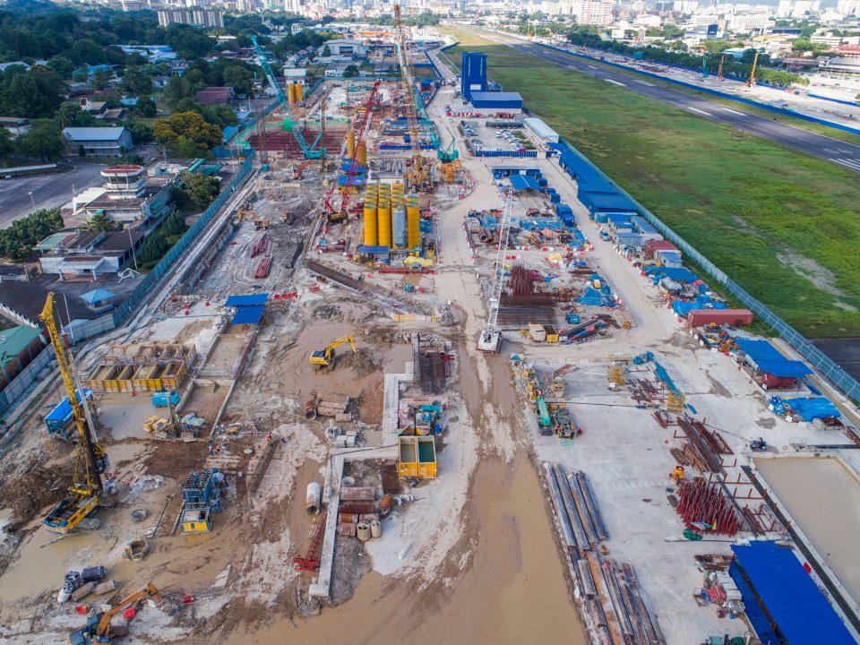 Pandangan keseluruhan tapak Stesen MRT Bandar Malaysia Selatan.