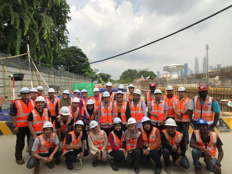 MEMORY: A group photograph of the delegates from PLANMalaysia, together with officials from Mass Rapid Transit Corporation Sdn Bhd at the MRT Hospital Kuala Lumpur Station site