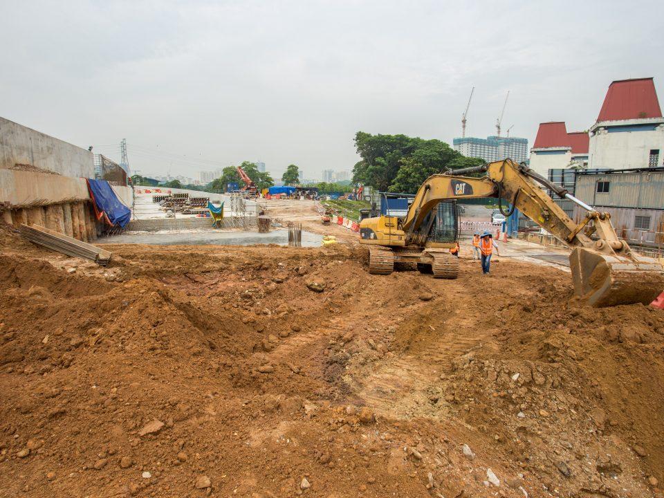 Kerja-kerja penggalian sedang dijalankan di Portal Selatan.