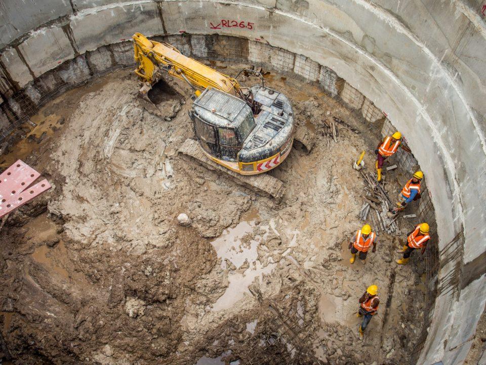 Pandangan kerja-kerja penggalian berjalan lancar di tapak Syaf Kecemasan 2.