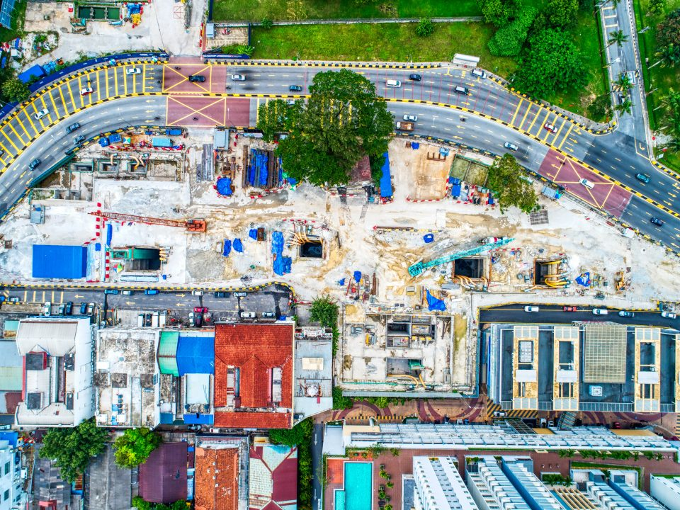 Pandangan keseluruhan Stesen MRT Sentul Barat di sepanjang Jalan Sultan Azlan Shah.