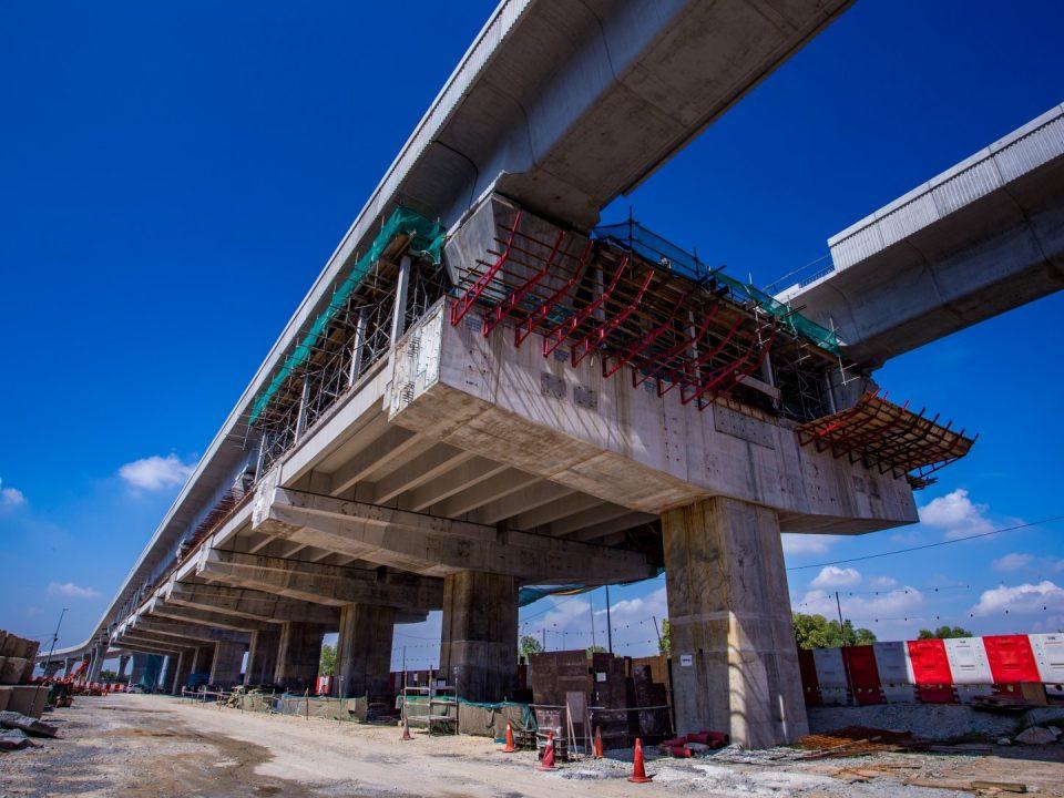 Kerja-kerja stesen dan kerja-kerja papak tengah sedang dijalankandi Stesen MRT Putra Permai